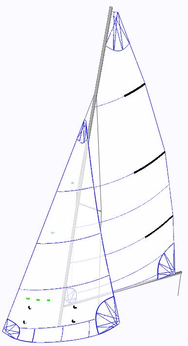 GP14 Sails - Computer Cut & Hand Finished